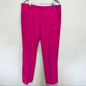 Men's Puma pink golf pants